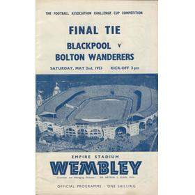 BLACKPOOL V BOLTON WANDERERS 1953 (F.A. CUP FINAL) FOOTBALL PROGRAMME