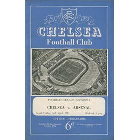 CHELSEA V ARSENAL 1952-53 FOOTBALL PROGRAMME