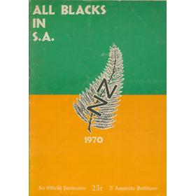 ALL BLACKS IN SOUTH AFRICA 1970 RUGBY TOUR BROCHURE