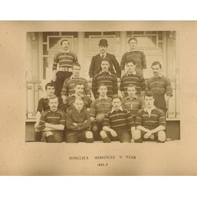 MIDDLESEX WANDERERS 1892-3 AND 1894-5 RUGBY PHOTOGRAPH - INCLUDING C.A. HOOPER