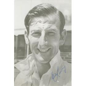 BILL LAWRY (AUSTRALIA) SIGNED CRICKET PHOTOGRAPH