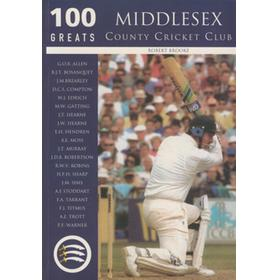100 GREATS: MIDDLESEX COUNTY CRICKET CLUB