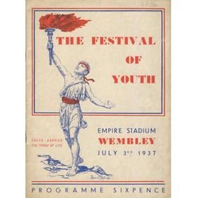 THE FESTIVAL OF YOUTH 1937 (WEMBLEY) OFFICIAL PROGRAMME
