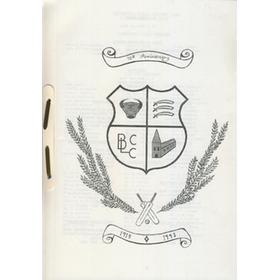 BRITANNIC LODGE CRICKET CLUB (HORNCHURCH) - 75TH ANNIVERSARY SOUVENIR BROCHURE