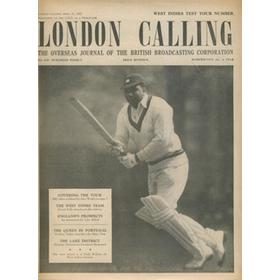 LONDON CALLING - WEST INDIES CRICKET TOUR OF ENGLAND 1957