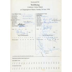 CELEBRITY CRICKET DAY (WELLBEING) 1994 CRICKET PROGRAMME - SIGNED BY MANY