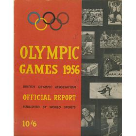 BRITISH OLYMPIC ASSOCIATION OFFICIAL REPORT - MELBOURNE 1956