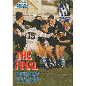 RUGBY WORLD CUP 1987 FINAL PROGRAMME