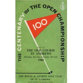OPEN CHAMPIONSHIP 1960 (ST. ANDREWS) GOLF PROGRAMME