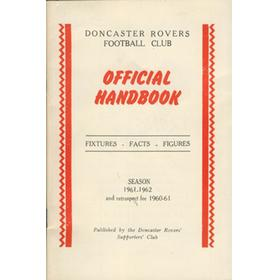 DONCASTER ROVERS OFFICIAL HANDBOOK 1961-62