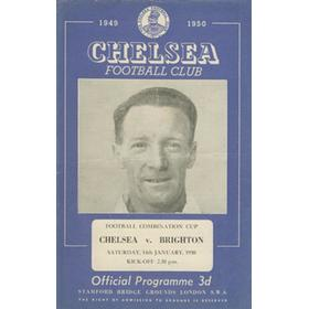 CHELSEA V BRIGHTON & HOVE ALBION (COMBINATION CUP) 1949-50 FOOTBALL PROGRAMME