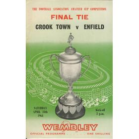 CROOK TOWN V ENFIELD 1964 (AMATEUR CUP FINAL) FOOTBALL PROGRAMME