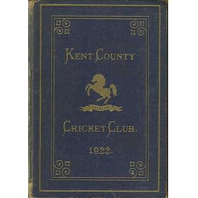 KENT COUNTY CRICKET CLUB 1922 [BLUE BOOK]