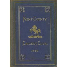 KENT COUNTY CRICKET CLUB 1919 [BLUE BOOK]