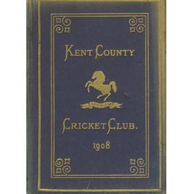 KENT COUNTY CRICKET CLUB 1908 [BLUE BOOK]