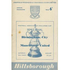 BIRMINGHAM CITY V MANCHESTER UNITED 1957 (F.A. CUP SEMI-FINAL) FOOTBALL PROGRAMME