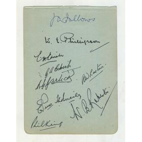 LANCASHIRE 1946 CRICKET AUTOGRAPHS