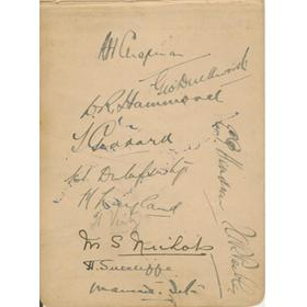 ENGLAND 1930 CRICKET AUTOGRAPHS