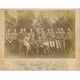 CLIFTON RUGBY FOOTBALL CLUB 1879-80 (UNDEFEATED SEASON) TEAM PHOTOGRAPH