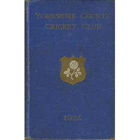 YORKSHIRE COUNTY CRICKET CLUB 1924 [ANNUAL]