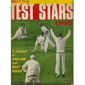 MEET THE TEST STARS 1966: A SOUVENIR OF ENGLAND AND WEST INDIES
