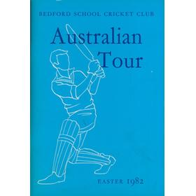 BEDFORD SCHOOL CRICKET CLUB (TOUR TO AUSTRALIA) 1982 BROCHURE