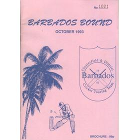 CHESTERFIELD & DISTRICT CC (TOUR TO BARBADOS) 1993 CRICKET BROCHURE