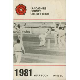 OFFICIAL HANDBOOK OF THE LANCASHIRE COUNTY CRICKET CLUB 1981