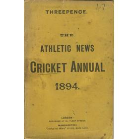 ATHLETIC NEWS CRICKET ANNUAL 1894