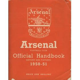 ARSENAL FOOTBALL CLUB 1950-51 OFFICIAL HANDBOOK