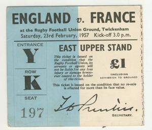 Rugby Tickets & Passes