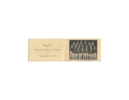 ENGLAND 1928-29 (OFFICIAL CHRISTMAS CARD)