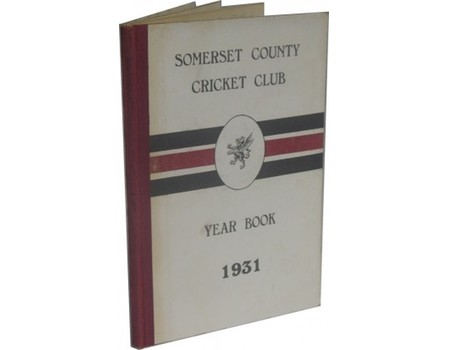 SOMERSET COUNTY CRICKET CLUB YEARBOOK 1931