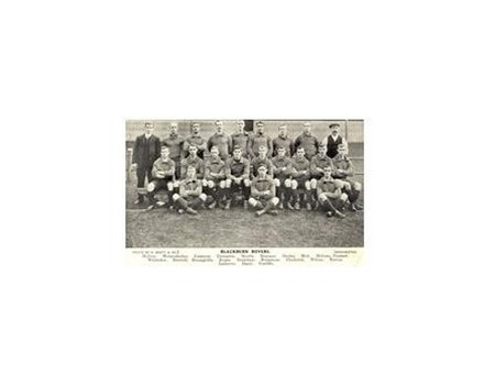 BLACKBURN ROVERS 1906-07 FOOTBALL POSTCARD