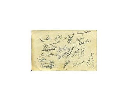 BARBARIANS 1951 SIGNED RUGBY PHOTOGRAPH