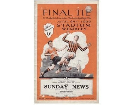 BOLTON WANDERERS V MANCHESTER CITY 1926 (F.A. CUP FINAL) FOOTBALL PROGRAMME