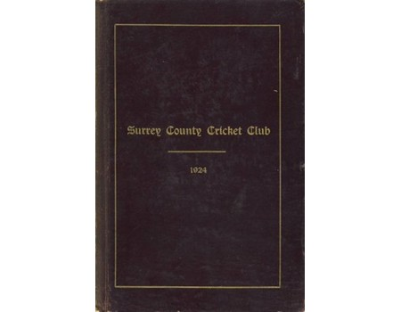 SURREY COUNTY CRICKET CLUB 1924 [HANDBOOK]