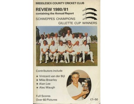MIDDLESEX COUNTY CRICKET CLUB ANNUAL REVIEW 1980/81