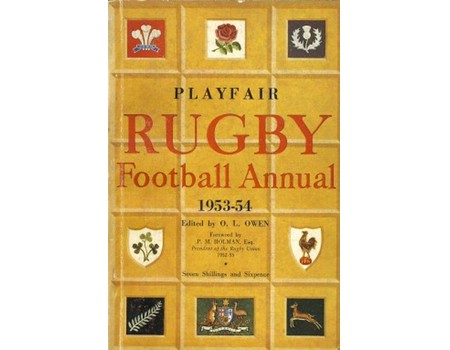 PLAYFAIR RUGBY FOOTBALL ANNUAL 1953-54