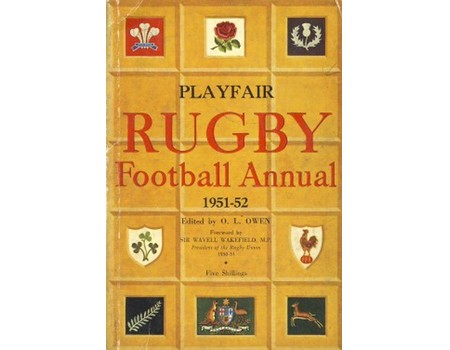 PLAYFAIR RUGBY FOOTBALL ANNUAL 1951-52