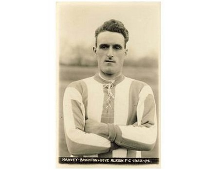 GEORGE HARVEY (BRIGHTON & HOVE ALBION) FOOTBALL POSTCARD