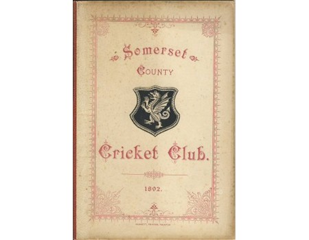 SOMERSET COUNTY CRICKET CLUB 1893 (YEARBOOK)