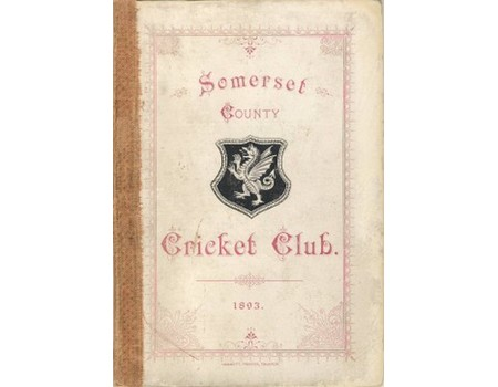 SOMERSET COUNTY CRICKET CLUB 1893-94 (YEARBOOK)