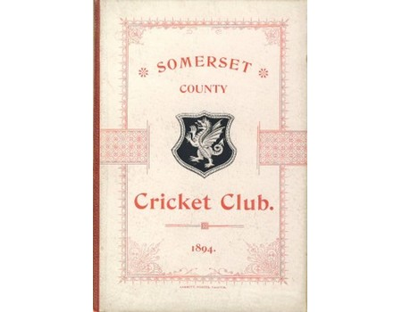 SOMERSET COUNTY CRICKET CLUB 1894-95 (YEARBOOK)