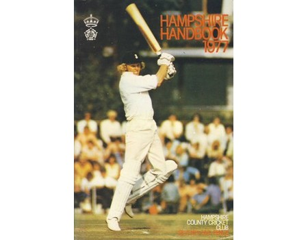 HAMPSHIRE COUNTY CRICKET CLUB ILLUSTRATED HANDBOOK 1977