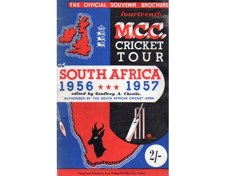 ENGLAND TOUR OF SOUTH AFRICA 1956-57 CRICKET BROCHURE