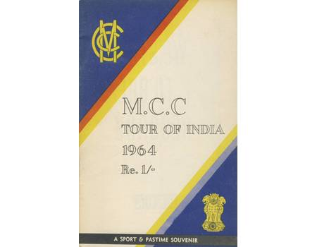 ENGLAND TOUR OF INDIA 1963-64 CRICKET SOUVENIR