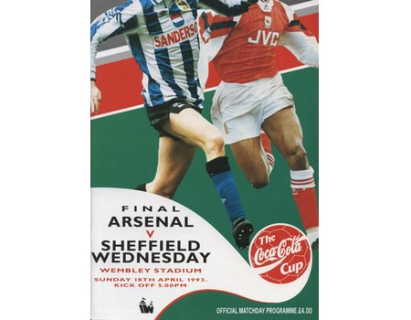 ARSENAL V SHEFFIELD WEDNESDAY 1993 (COCA-COLA CUP FINAL) FOOTBALL PROGRAMME