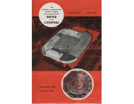 MANCHESTER UNITED V LIVERPOOL 1965 (CHARITY SHIELD) FOOTBALL PROGRAMME