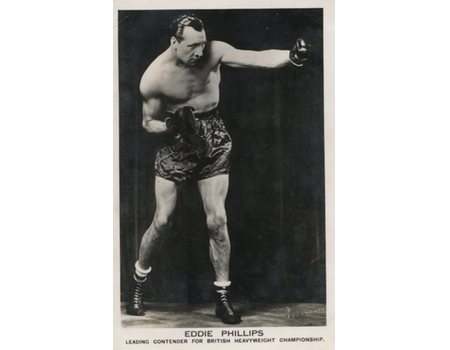 EDDIE PHILLIPS SIGNED POSTCARD